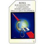 The Phonecard Shop: Roma 91, 1° Convegno Internazionale della Carta Telefonica, 30.06.93, L.10000
