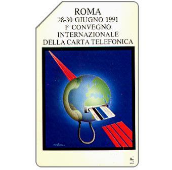 Phonecard for sale: Roma 91, 1° Convegno Internazionale della Carta Telefonica, 30.06.93, L.10000