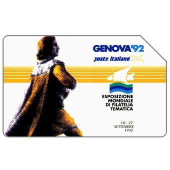 Phonecard for sale: Genova 92, Esposizione Mondiale di Filatelia Tematica, 31.12.93, L.5000