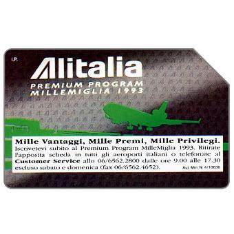 Alitalia Premium Program Millemiglia 1993, 31.12.94, L.5000
