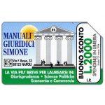 The Phonecard Shop: Edizioni Simone, Manuali Giuridici, 30.06.95, L.5000