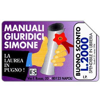 Edizioni Simone, Manuali Giuridici, La laurea in pugno, 30.06.95, L.5000