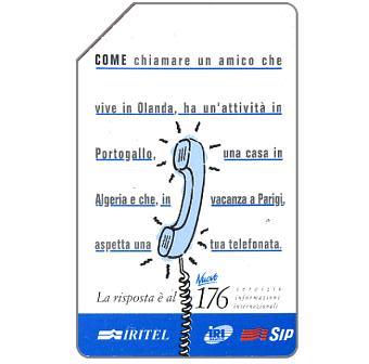 The Phonecard Shop: IRITEL 176, 30.06.95, L.5000