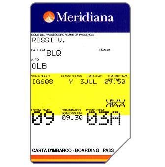 Meridiana, 30.06.99, L.10000