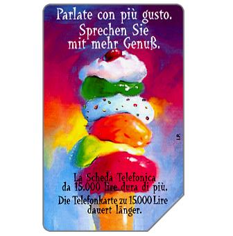 Phonecard for sale: Parlate con più gusto, Alto Adige, 30.06.2000, L.15000