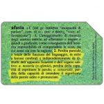 The Phonecard Shop: Associazione Italiana Afasici, 31.12.2000, L.5000