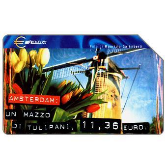 Phonecard for sale: Capitali dell'Euro, Amsterdam, 30.06.2002, L.5000
