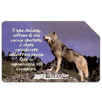 Phonecard for sale: Animali che lasciano un vuoto, lupo italiano, 31.12.2003, L.5000