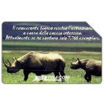 The Phonecard Shop: Animali che lasciano un vuoto, rinoceronte bianco, 31.12.2003, L.5000