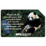 The Phonecard Shop: Animali che lasciano un vuoto, panda gigante, 31.12.2003, L.5000