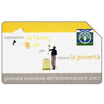 Phonecard for sale: Giornata mondiale dell'alimentazione, FAO, 31.12.2003, L.5000
