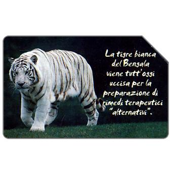 Phonecard for sale: Animali che lasciano un vuoto, tigre bianca, 30.06.2004, € 5,00