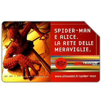Phonecard for sale: Spider-Man e Alice, 30.06.2004, € 5,00