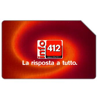 Phonecard for sale: Info 412, 31.12.2004, € 5,00