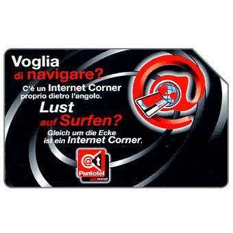 Phonecard for sale: Internet Corner, Alto Adige, 31.12.2004, € 2,50