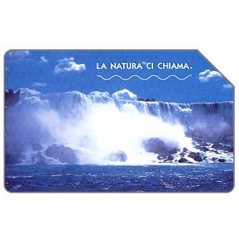 Phonecard for sale: La natura ci chiama, Le cascate del Niagara, 31.12.2004, € 5,00