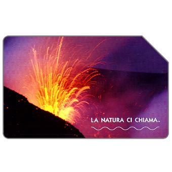 Phonecard for sale: La natura ci chiama, L'Etna, 31.12.2004, € 5,00