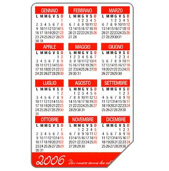 Phonecard for sale: Calendar 2006, 31.12.2006, € 5,00