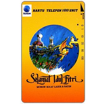 Phonecard for sale: Telkom - Selamat Idul Fitri, Mohon Maaf Lahir & Batin, 100 units