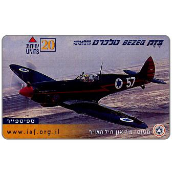 Phonecard for sale: Israeli Air Force, Spitfire, 20 units