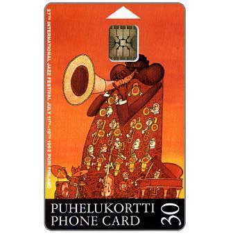 Phonecard for sale: Tele - Pori Jazz 1992, 30 mk