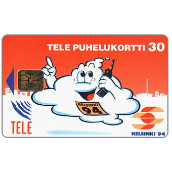 Phonecard for sale: Tele - Helsinki '94, red, 30 mk