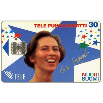 Phonecard for sale: Tele - Nuori Suomi, Sari Essayah, 30 mk