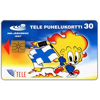 Phonecard for sale: Tele - Hockey mascot, lion, 30 mk
