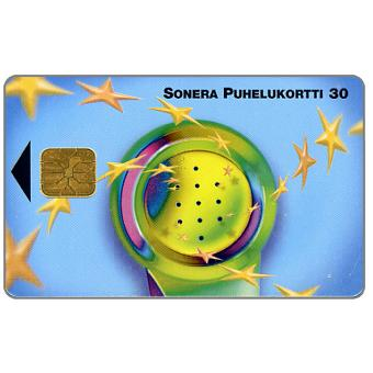 Phonecard for sale: Sonera - Handset & stars, 30 mk