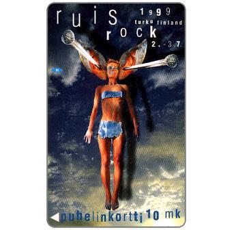 Phonecard for sale: Turku - Ruis Rock 1999, 10 mk