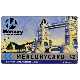 Mercury - Tower Bridge, London - Spring 1989, deep notch, £2