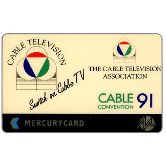 Phonecard for sale: Mercury - Cable TV Convention '91, 50p