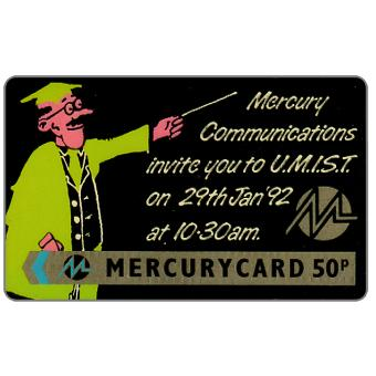 Phonecard for sale: Mercury - MCL: U.M.I.S.T., 50p