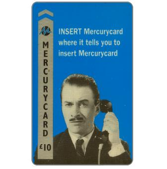 """Phonecard for sale: Mercury - Harry Enfield: """"Insert"""", £10"""