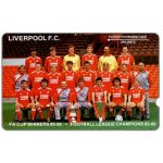 Phonecard for sale: Plessey test card, Liverpool F.C. 1989, code 2EXHA, deep notch, 1000 units