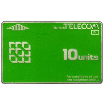 Phonecard for sale: Definitive 1st series, no notch, 10 units