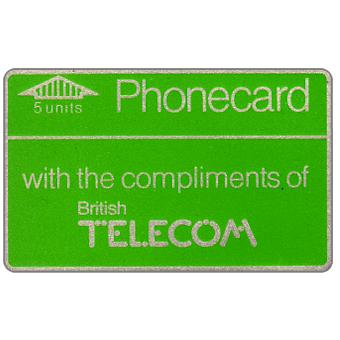 Phonecard for sale: Definitive 1st series, no notch, 40 units