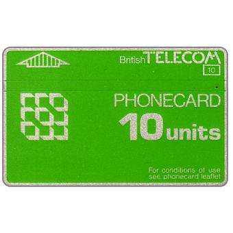 Phonecard for sale: Definitive 2nd series, no notch, 10 units
