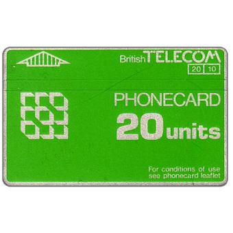 Phonecard for sale: Definitive 2nd series, no notch, 20 units
