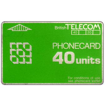Phonecard for sale: Definitive 2nd series, no notch, 40 units