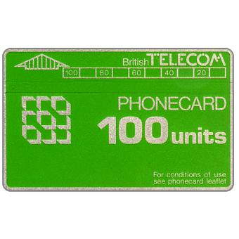 Phonecard for sale: Definitive 2nd series, no notch, 100 units