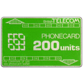 Phonecard for sale: Definitive 2nd series, no notch, 200 units