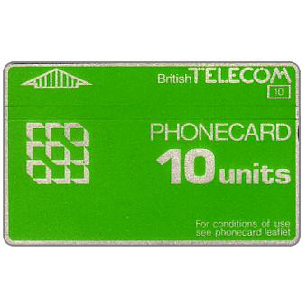 Phonecard for sale: Definitive 3rd series, notched, 10 units