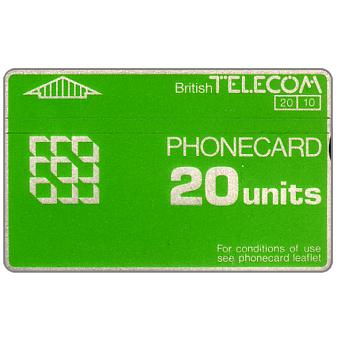 Phonecard for sale: Definitive 3rd series, notched, 20 units