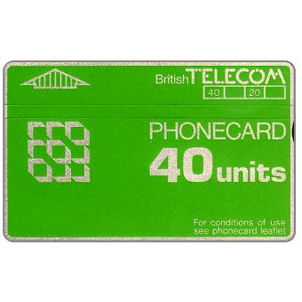 Phonecard for sale: Definitive 3rd series, notched, 40 units