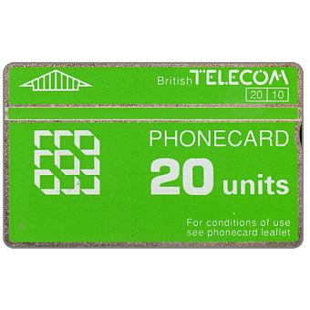 Phonecard for sale: Definitive 5th series, green band, 20 units