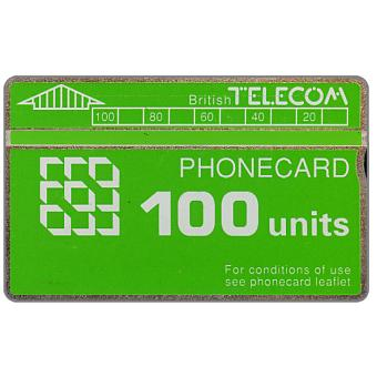 Phonecard for sale: Definitive 5th series, green band, 100 units