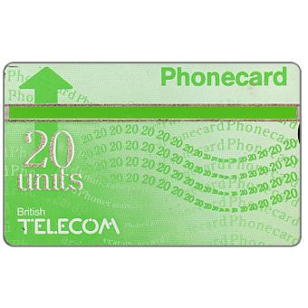 Phonecard for sale: Definitive 6th series, green band, 20 units
