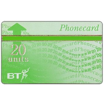 Phonecard for sale: Definitive 7th series, green band, no border, 20 units