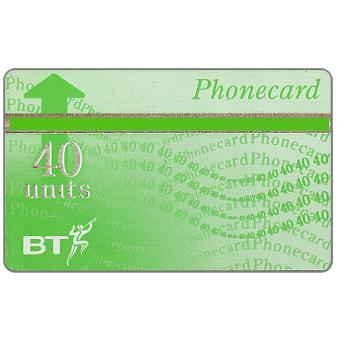 Phonecard for sale: Definitive 7th series, green band, no border, 40 units